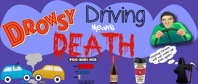 Drowsy Car Driving Dangers